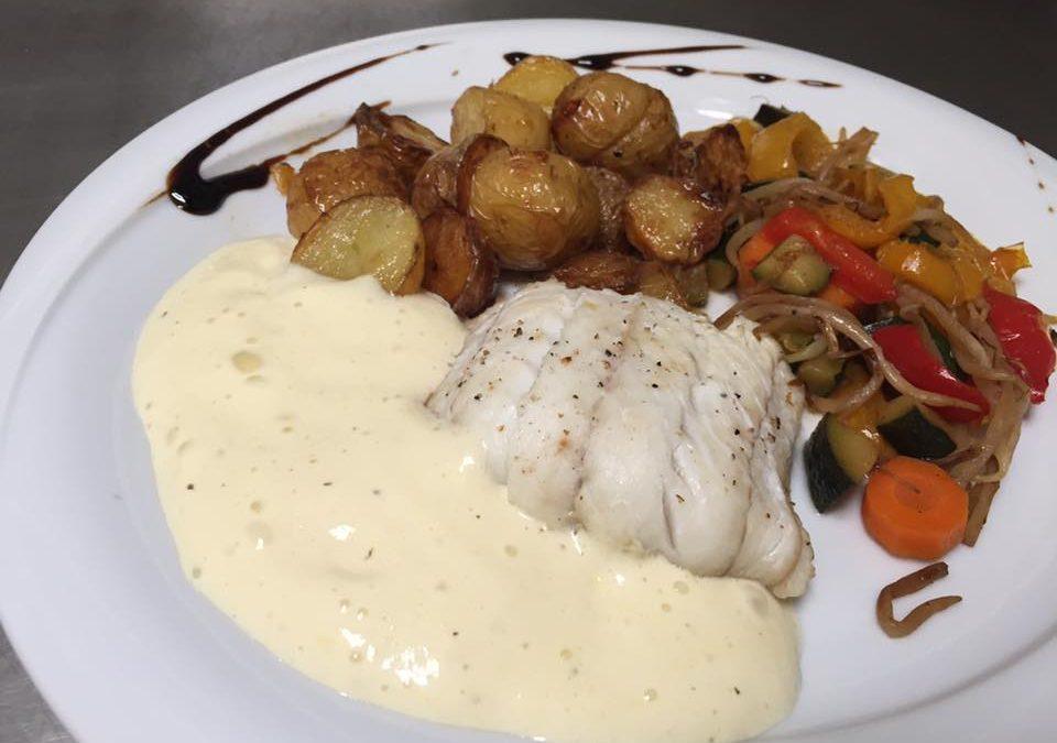 Le poisson du marché du jour : Filet de Cabillaud, émulsion d'aïoli !