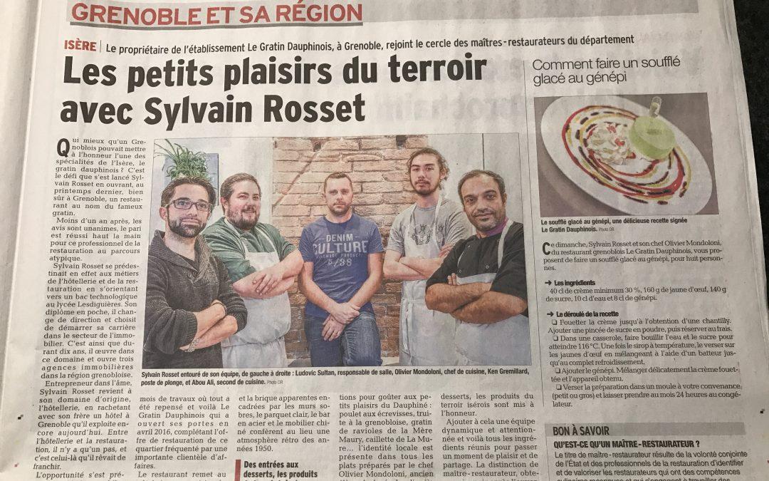 Article du Dauphiné Libéré du 12/02/17