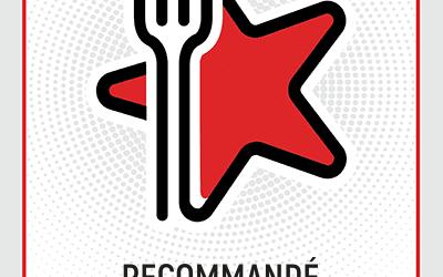 """Badge Recommandation"" par Restaurant Guru"
